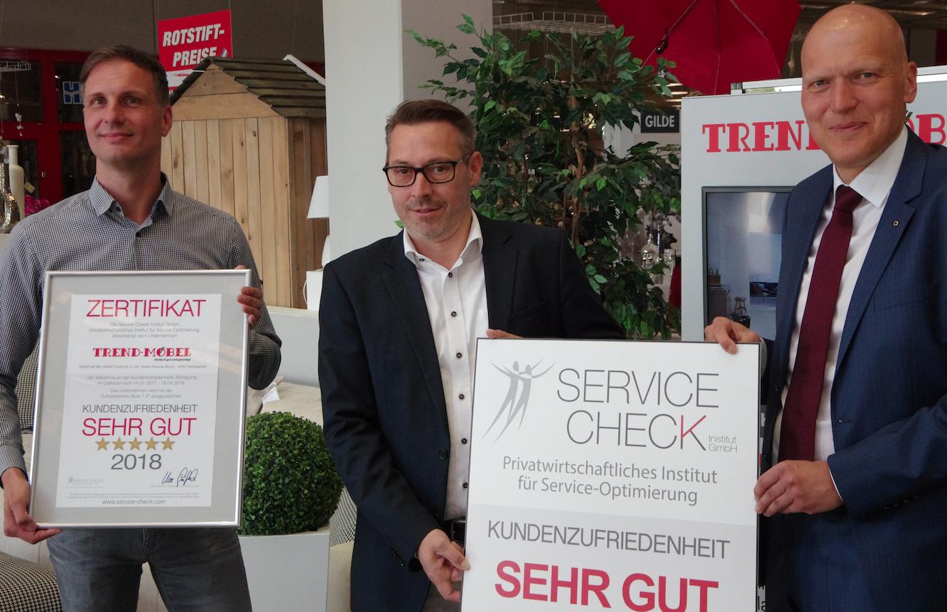 Ausgezeichneter Service Bei Trend Mobel In Hennigsdorf Service Check