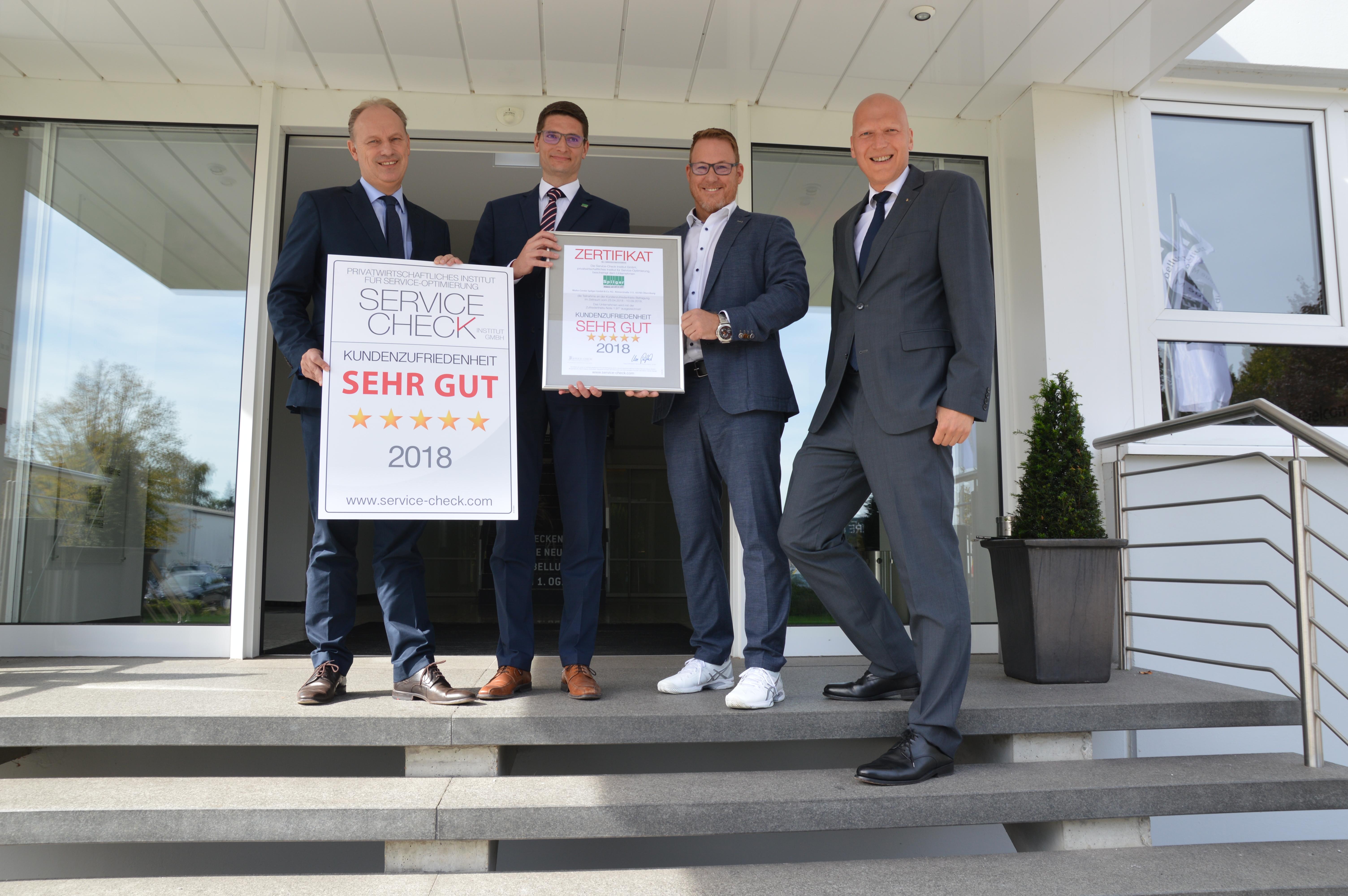 Service Check Auszeichnung Für Wohncenter Spilger Bei Musterring